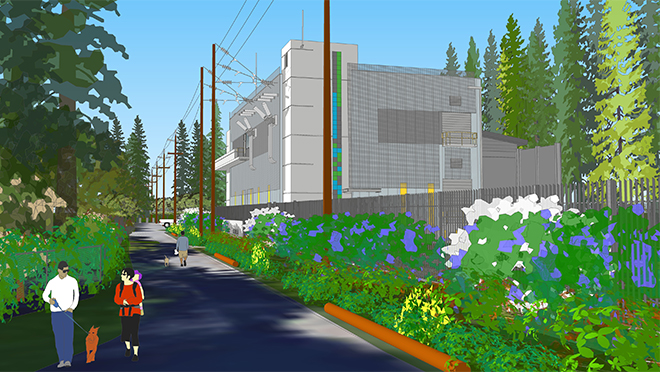 Rendering of the new Capilano Substation upgrade