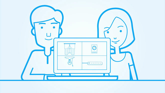 MyHydro couple with computer illustration