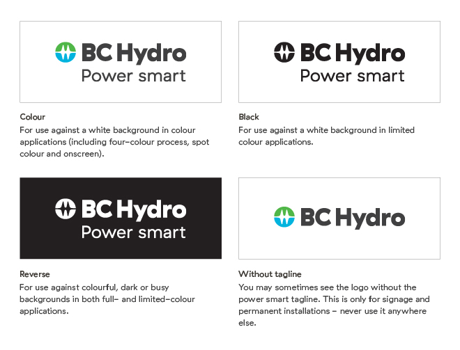BC Hydro Logo guidelines