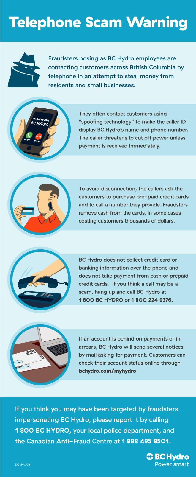Warning Fraudulent Calls