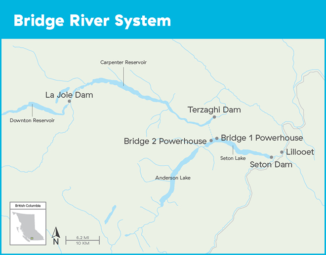 Bridge river system map