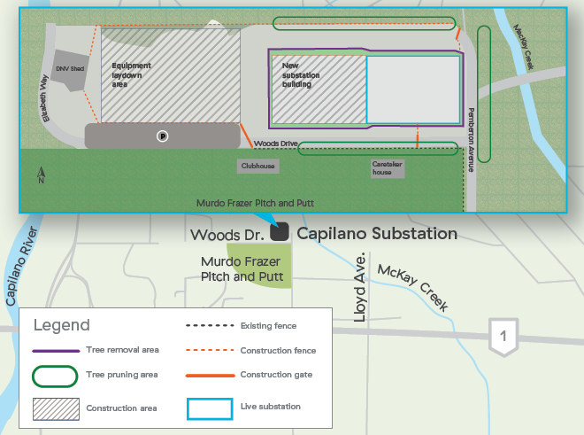 Capilano Substation construction plan
