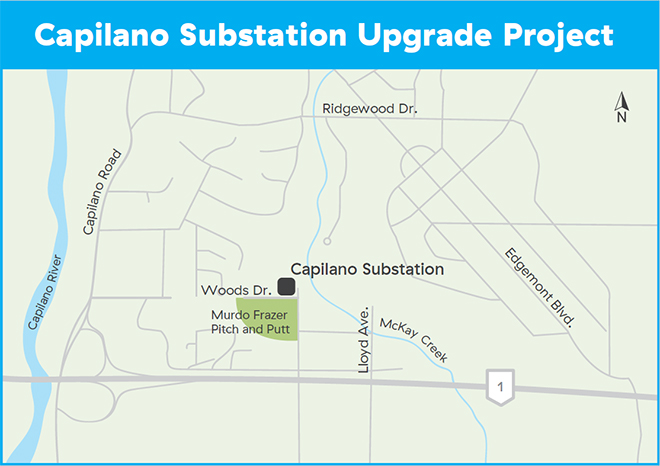Capilano Substation Upgrade Project map