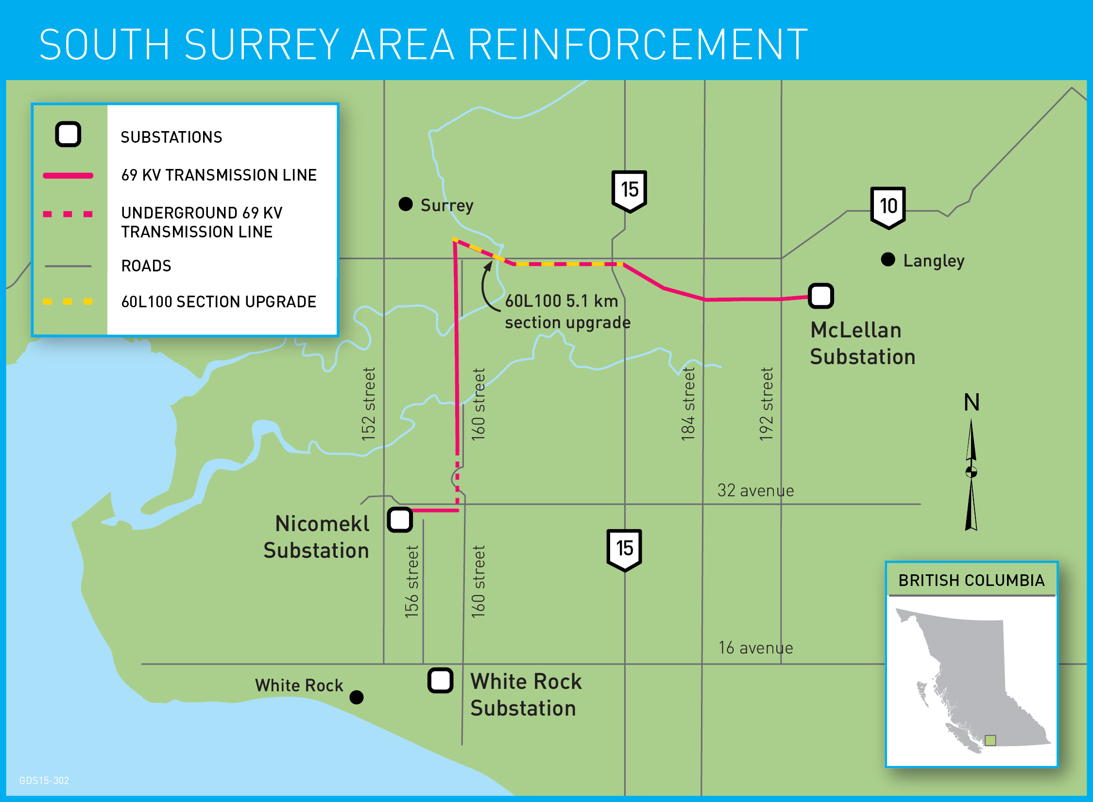 South Surrey Area Reinforcement map