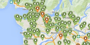 PlugShare electric vehicle charging map
