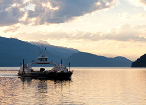 Ferry on Arrow Lakes