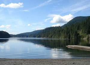 The view from Buntzen Lake Reservoir