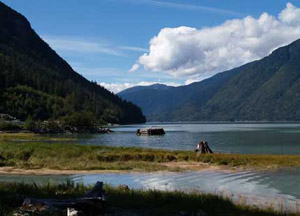 The Clayton Falls recreation area - the only ocean-front park in the Bella Coola area