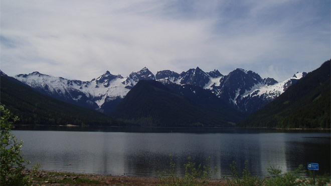 The view at Jones Lake Reservoir
