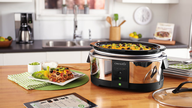Image of Wemo Crock Pot with a tablet computer