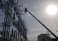 Electricians Brock Harvey and Curtis Byhre working at Port Alberni substation.​