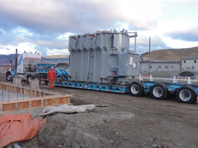 Transformer at West Kamloops Substation Project
