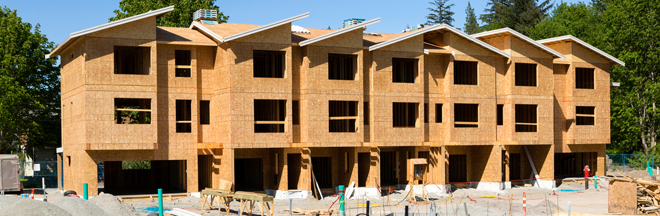 multi-residential homes under construction
