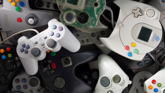 Image of gaming controllers