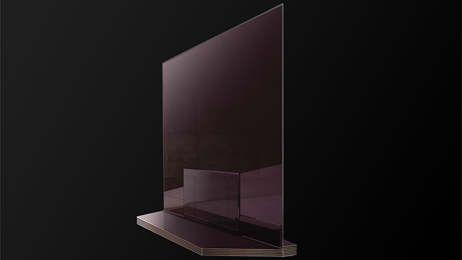 Image of thin LG OLED flat panel TV