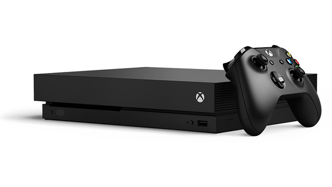 Image of an Xbox One X gaming console and controller
