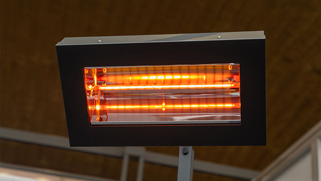 Image of an infrared patio heater