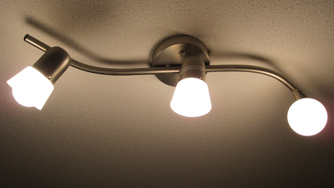 Image of kitchen LED light fixture