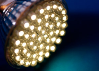 Led light cluster close up
