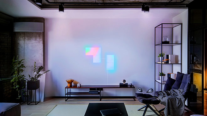 Image of LIFX LED lights in a living room
