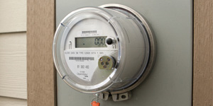 Smart meter installed on a house