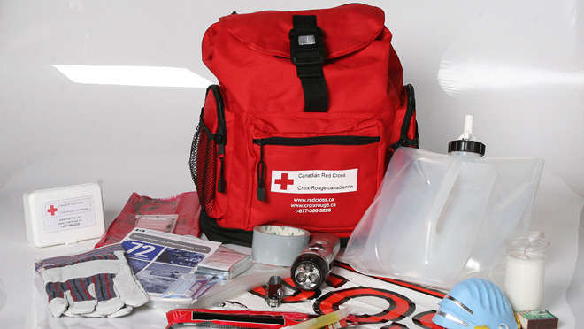Image of a Red Cross disaster kit