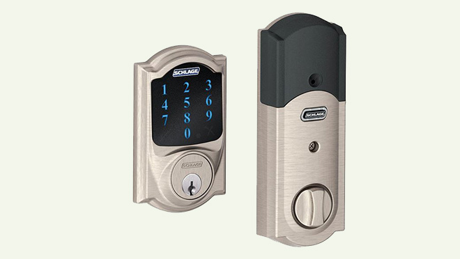 Image of a Schlage Camelot Wi-fi integrated lock