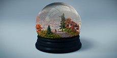 Down Danger Dial Safety Campaign Snowglobe
