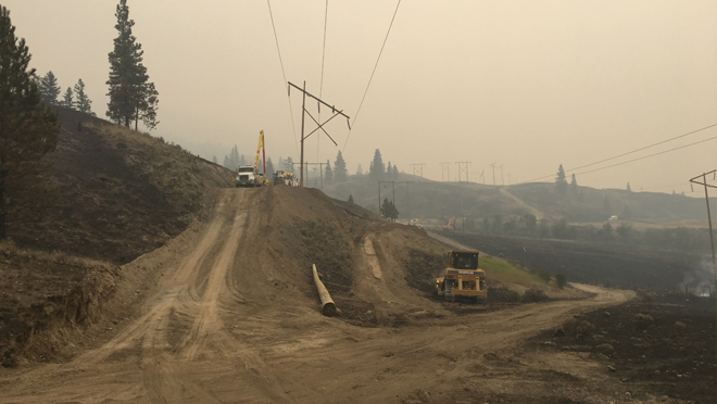 BC Hydro crews rebuilding transmission towers in Cache Creek
