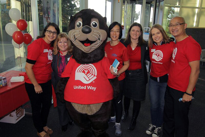 Edmonds, Seymour, mascot, United Way, community giving