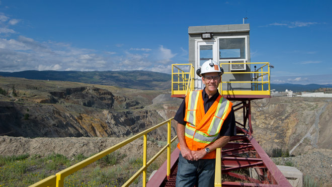 Image of Andrew Cooper, New Afton gold mine