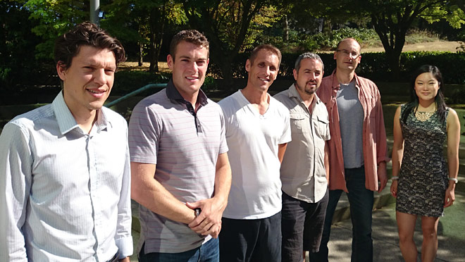 Image of Business Energy Advisors; Ben Mills, Sean McFetridge, Adrian Pettyfer, Darrell Eason, Sorin Pasca, and Ida Keung