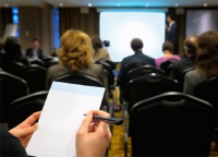 Image of a business seminar