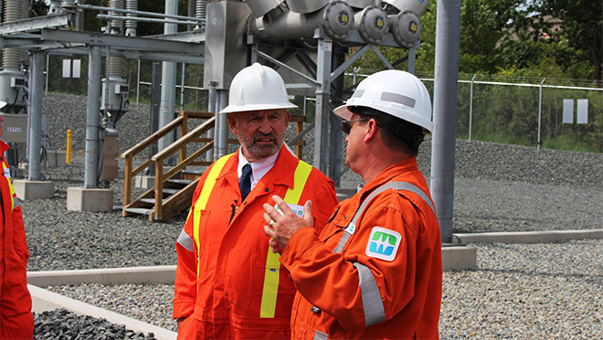 Image of Bill Bennett at the George Tripp Substation
