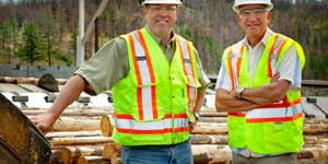 Doug Tracey, Operations Manager (left); Ron Gorman, CEO (right) from Gorman Bros. Lumber.