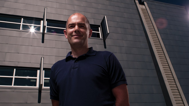 Orion Henderson, UBC's director of operational sustainability