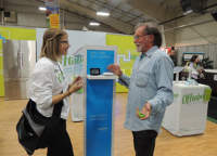Image of two people at the Victoria Home Show