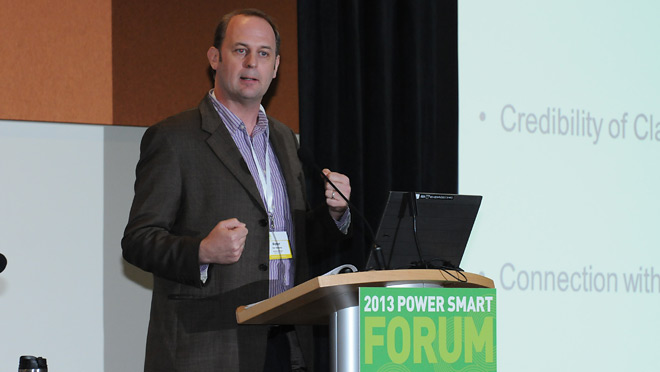 Peter ter Weeme, Principal, Junxion Strategy, at the 2013 Power Smart Forum