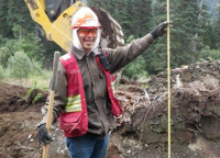Tahltan Community Member helping with Northwest Transmission Line project