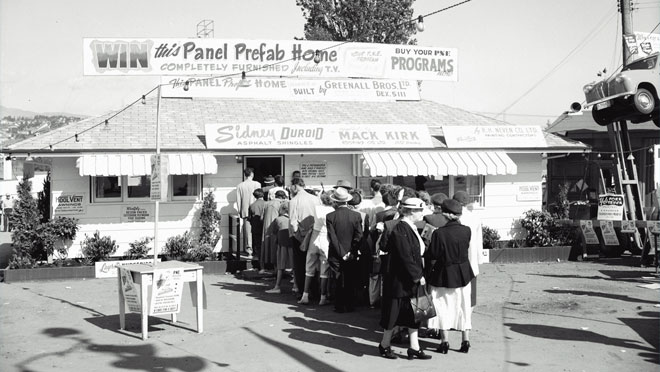 Image of a PNE Prize Home in the 1950s