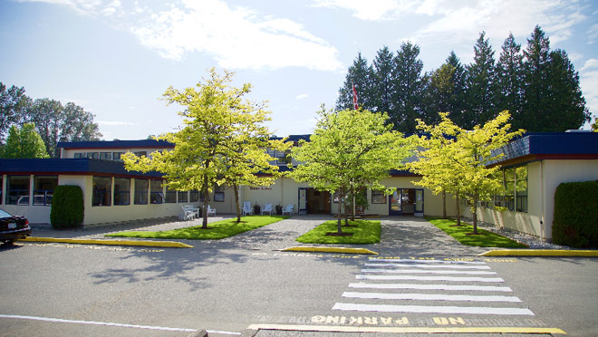 Image of the exterior of Deer Lake School