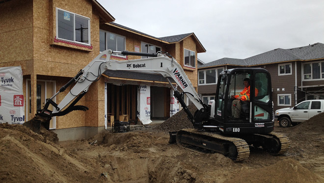 Image of Habitat for Humanity home in Kamloops, B.C. under construction