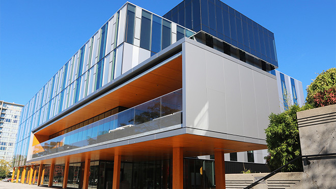 Exterior photo of Kwantlen University's Wilson School of Design