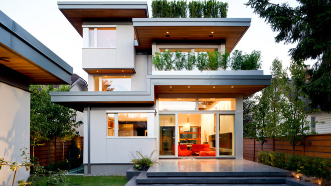 Image of a modern home exterior