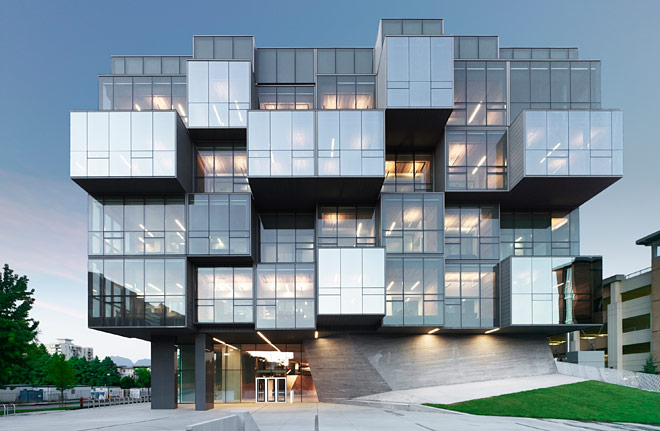 Image of the UBC Pharmaceutical Sciences Building, photo by Marc Cramer