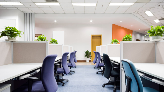 Image of a bright office interior