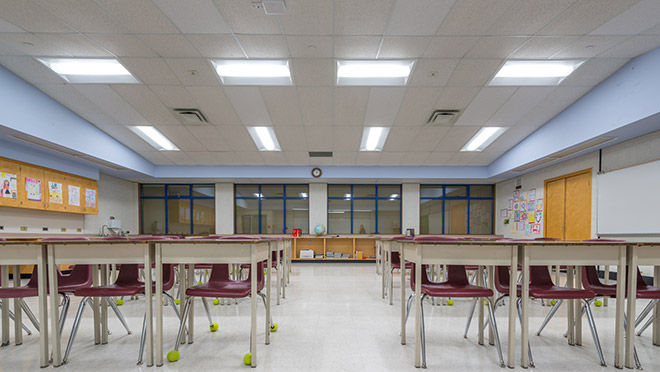 Image of a Citadel Middle School classroom