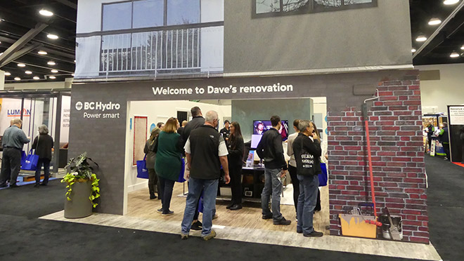 Image of Dave's renovation home show display