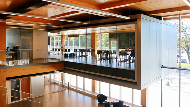 Photo of a classroom at Kwantlen University's Wilson School of Design