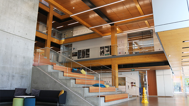 Photo of the interior space at Kwantlen University's Wilson School of Design